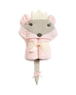 Elegant Baby Infant Girls' Princess Mouse Hooded Bath Towel thumbnail