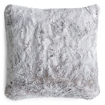 "Hudson Park Collection - Frosted Faux Fur Decorative Pillow, 20"" x 20"" - 100% Exclusive"