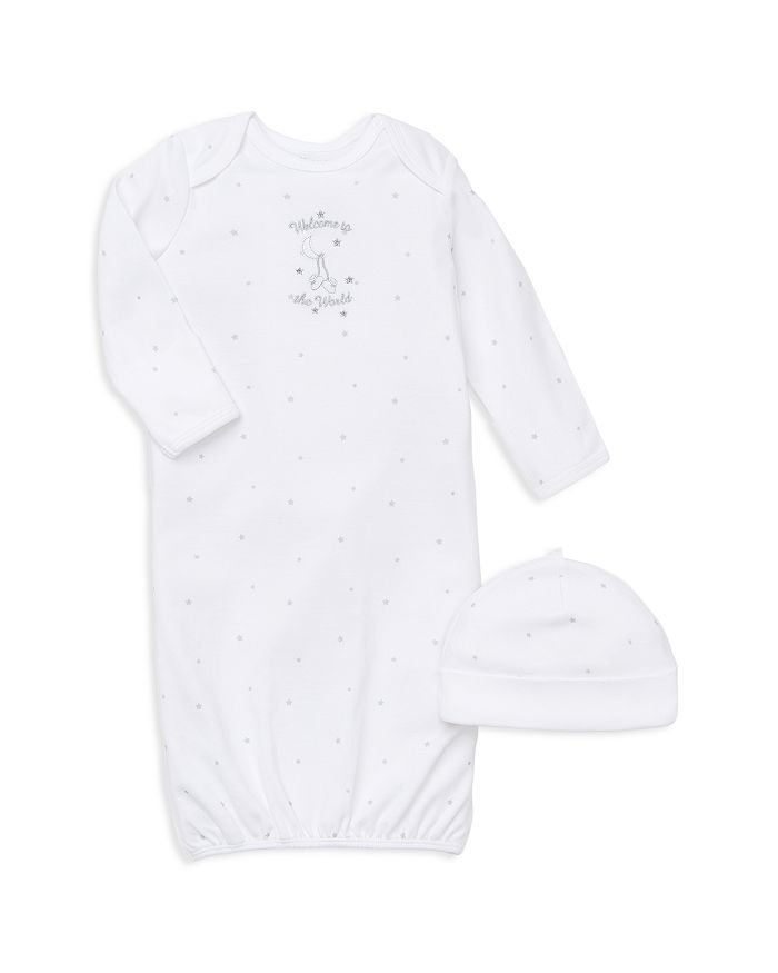 Little Me - Unisex Welcome to the World Gown & Hat Set - Baby