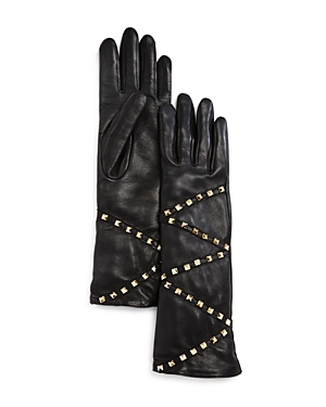 Agnelle Studded Leather Gloves at Bloomingdale's