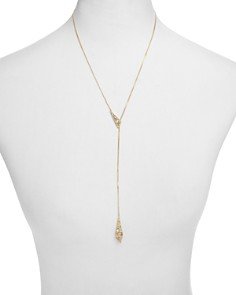 "Alexis Bittar - Crystal Encrusted Origami Lariat Necklace, 21"" - 100% Exclusive"