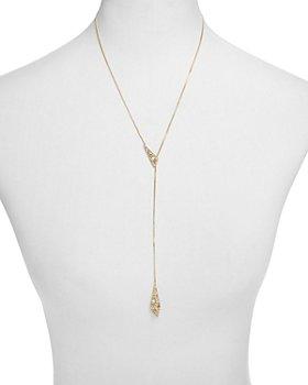 "Alexis Bittar - Crystal Encrusted Origami Lariat Necklace, 21"" - 100% Exclusive"
