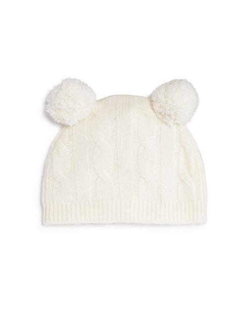 Bloomie's - Unisex Cashmere Double Pom-Pom Hat, Baby - 100% Exclusive