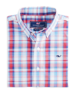 Vineyard Vines Boys' Gunnel Plaid Button-Down Shirt - Little Kid