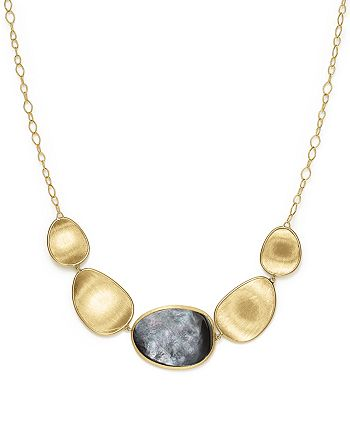 Marco Bicego - 18K Yellow Gold Lunaria Black Mother-Of-Pearl Short Necklace, 16.5""