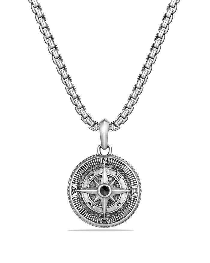 David Yurman - Maritime Compass Amulet with Black Diamond