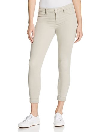 J Brand - Anja Cuffed Cropped Jeans in Biscuit