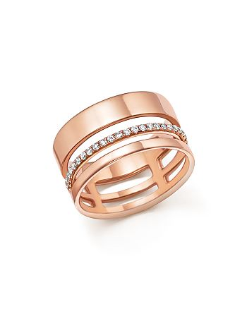 Bloomingdale's - Diamond Cigar Band in 14K Rose Gold, .20 ct. t.w. - 100% Exclusive