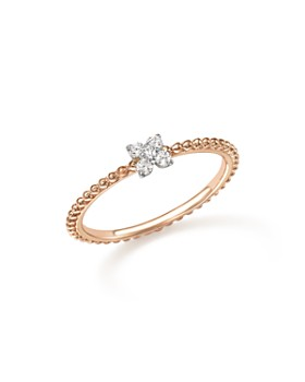 Bloomingdale's - Diamond Cluster Beaded Ring in 14K Rose Gold, .10 ct. t.w.- 100% Exclusive