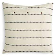 Coyuchi - Organic Cotton Ivory Rippled Stripe Euro Sham