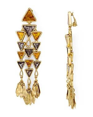 Tory Burch Triangle Chandelier Clip-On Earrings