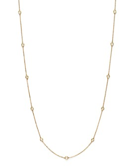 Bloomingdale's - Diamond Station Long Necklace in 14K Yellow Gold, 1.0 ct. t.w. - 100% Exclusive