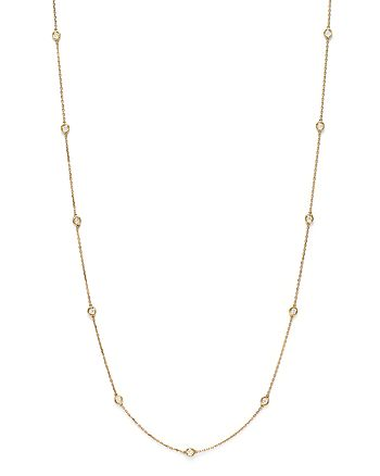 Bloomingdale's - Diamond Station Long Necklace in 14K Yellow Gold, 1.0 ct. t.w.- 100% Exclusive