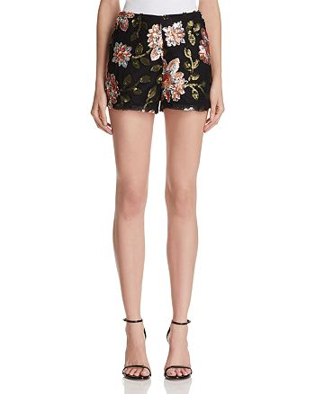 Endless Rose - Floral Sequin Shorts - 100% Exclusive