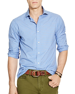 Polo Ralph Lauren Checked Broadcloth Slim Fit Button-Down Shirt