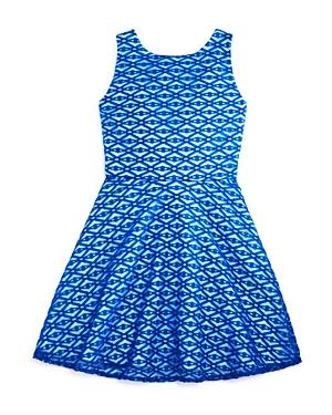 Sally Miller Girls Geo Mesh Skater Dress  Sizes Sxl