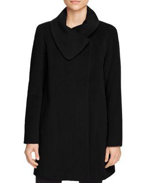 CINZIA ROCCA ICONS Cowl Neck Coat in Black