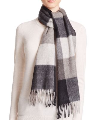 C By Bloomingdale's C BY BLOOMINGDALE'S CASHMERE PLAID SCARF - 100% EXCLUSIVE