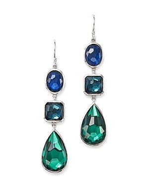 Ippolita Sterling Silver Rock Candy Wonderland Three Stone Linear Drop Earrings in Merino
