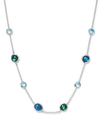 IPPOLITA - Sterling Silver Rock Candy® Wonderland Mini Gelato Short Station Necklace in Merino, 16""