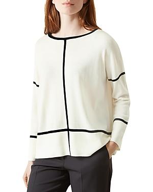 Hobbs London Roma Graphic Merino-Wool Sweater