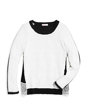 Design History Girls Color Block Sweater  Big Kid