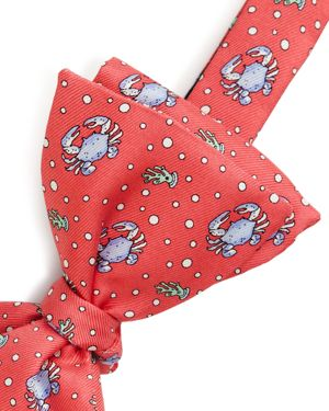 Vineyard Vines Boys' Crab Print Silk Bow Tie