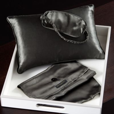 $Donna Karan Silk Pillow and Eye Mask Travel Set - Bloomingdale's