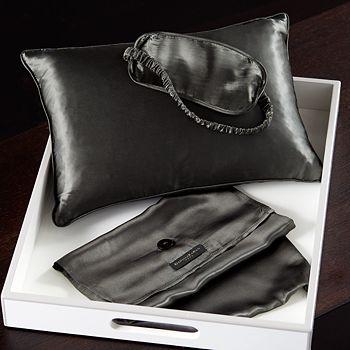 Donna Karan - Silk Pillow and Eye Mask Travel Set