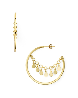 Argento Vivo Carmen Disc Hoop Earrings
