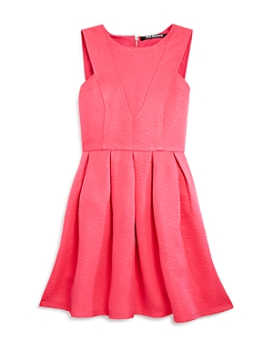 Miss Behave Girls Pleated Jacquard Dress  Sizes 816