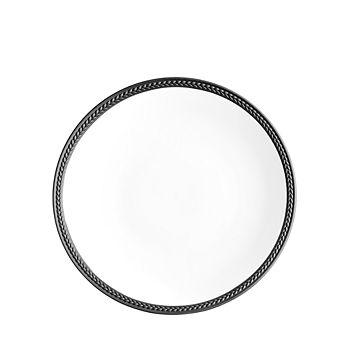 L'Objet - Soie Tressee Black Dessert Plate