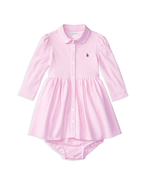 Ralph Lauren Childrenswear Infant Girls' Oxford Knit Shirtdress & Bloomer Set - Sizes 3-24 Months