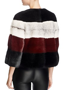 Maximilian Furs - Striped Saga Mink Fur Coat - 100% Exclusive