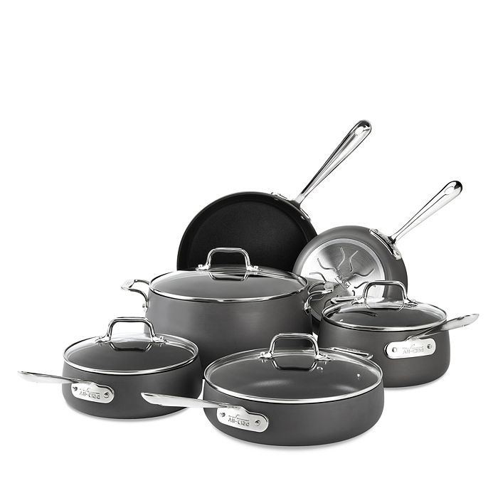 All-Clad - Hard Anodized Nonstick 10-Piece Cookware Set