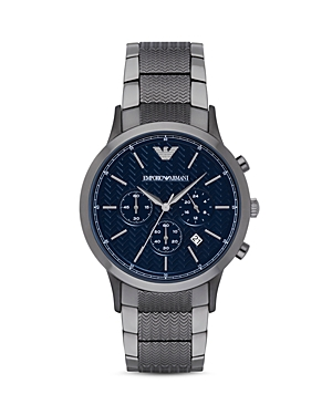Emporio Armani Chevron Link Bracelet Watch, 43mm