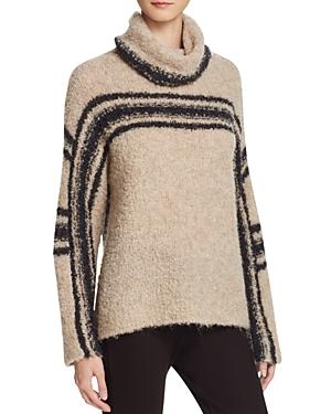 360 Sweater Placed Stripe Intarsia Sweater