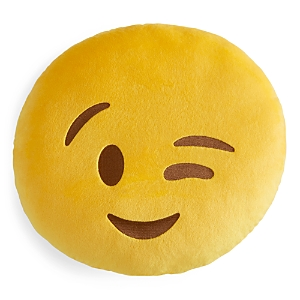 Throwboy Wink Emoji Decorative Pillow