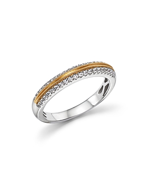 Diamond Micro Pave Band in 14K White and Yellow Gold, .25 ct. t.w. - 100% Exclusive