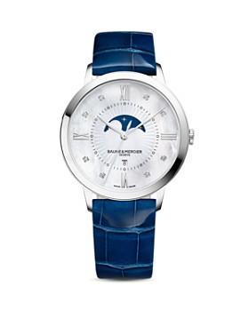 Baume & Mercier - Baume & Mercier Classima Diamond Moon Phase Watch, 36.5mm