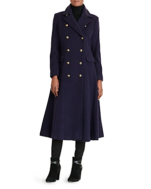 Lauren Ralph Lauren Military Button Maxi Coat