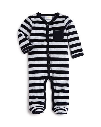 Bloomie's - Boys' Velour Footed Coverall, Baby - 100% Exclusive