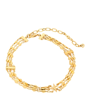 Charm & Chain Choker Necklace, 12