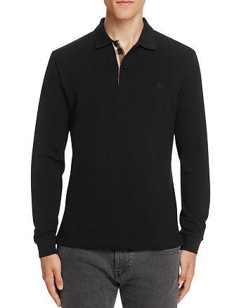 Burberry - Oxford Piqué Long Sleeve Slim Fit Polo Shirt