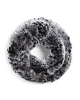 Surell - Twisted Rabbit Fur Loop Scarf