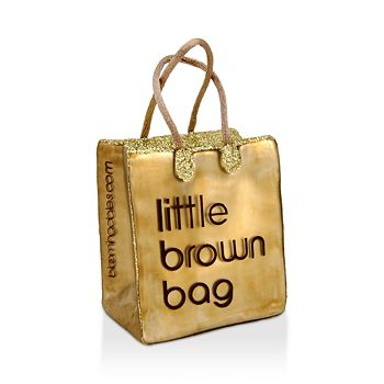 Joy to the World - Bloomingdale's Little Brown Bag Glass Ornament - 100% Exclusive