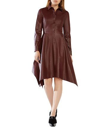 BCBGMAXAZRIA - Beatryce Faux Leather Dress - 100% Exclusive
