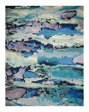 Nourison Prismatic Rug - Abstract Seaglass, 3'9 x 5'9