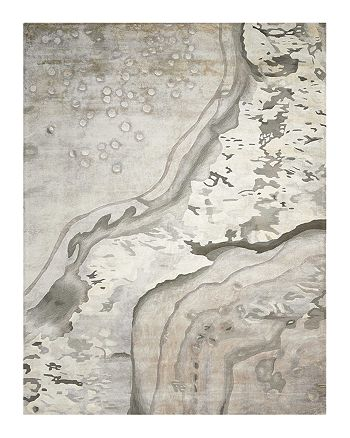 """Nourison - Prismatic Rug - Abstract Silver Cloud, 5'6"""" x 7'5"""""""