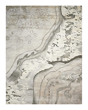Nourison Prismatic Rug - Abstract Silver Cloud, 5'6 x 7'5